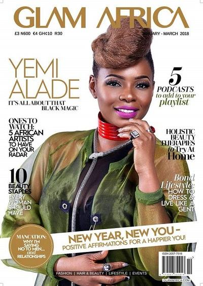 Yemi Alade Graces The Cover Of Glam Africa Magazine