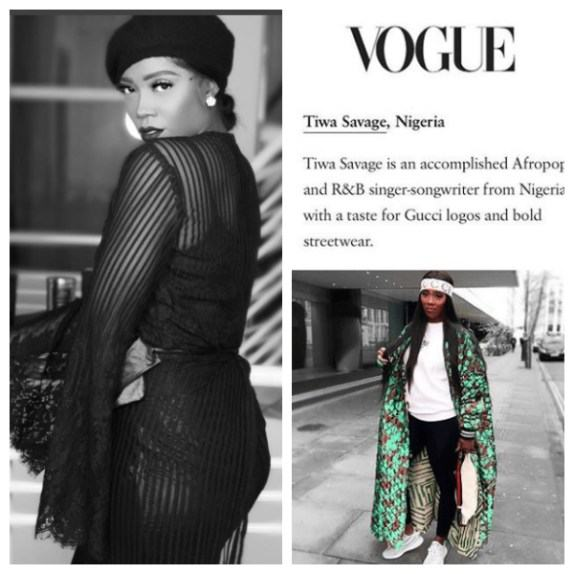 tiwa savage features in vogue magazines 10 world most stylish celebrities on ig