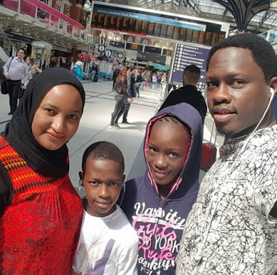 Ali Nuhu and his family