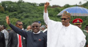Ben Ayade and Muhammadu Buhari
