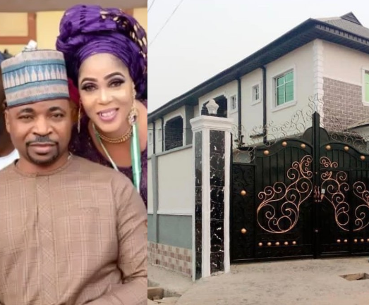 MC Oluomo and wife