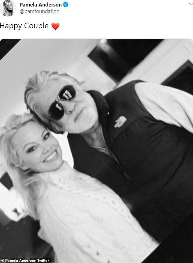 Pamela Anderson shares photo with her husband, Jon Peters