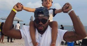 Joseph Yobo and daughter