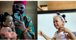 Noble Igwe and daughter