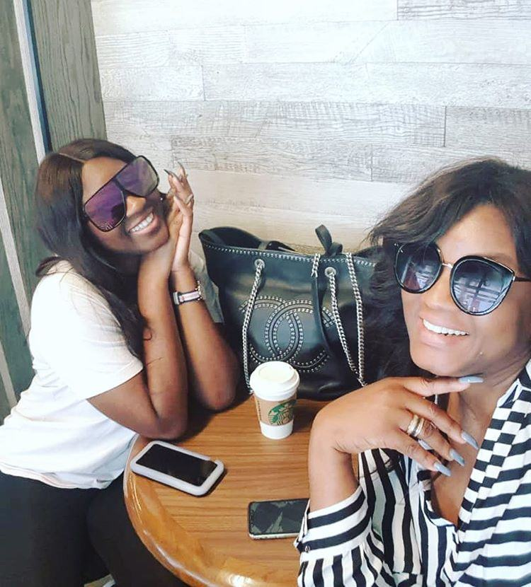 Omotola and daughter