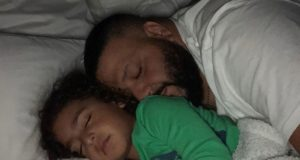 Dj Khaled and son sleep