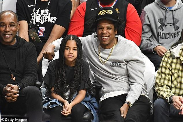 Jay Z and Blue Carter