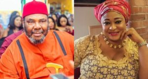 Ronke Oshodi and Pete Edochie