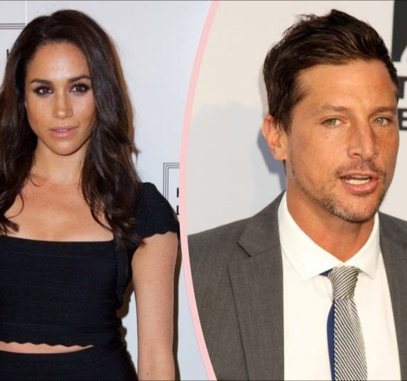 Simon Rex and Meghan Markle