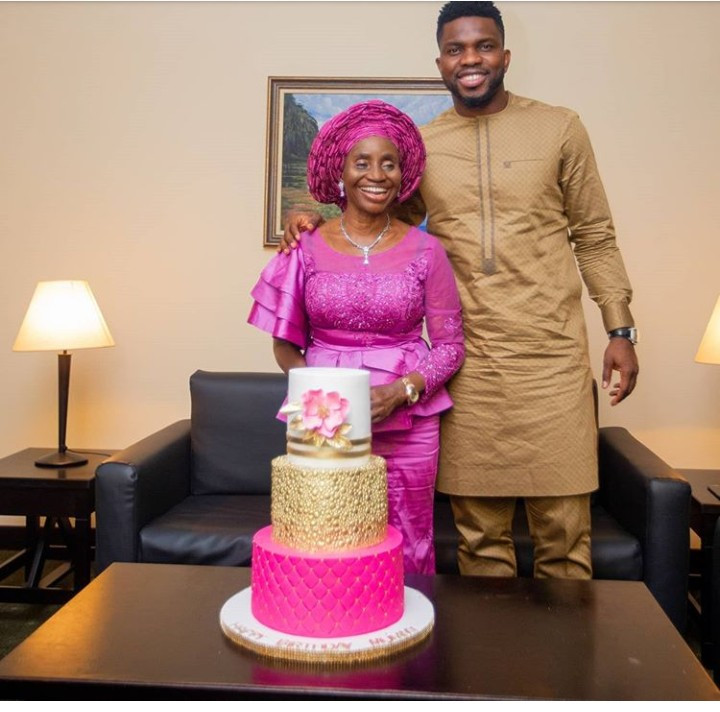 Joseph Yobo and his mother
