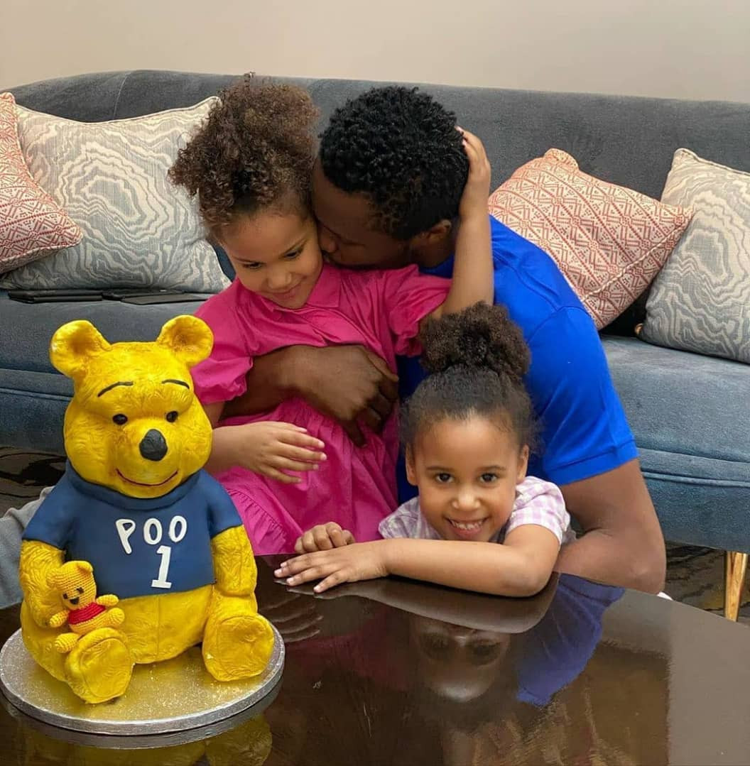Mikel Obi and his daughters