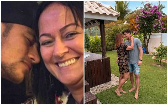 Neymar and his mother