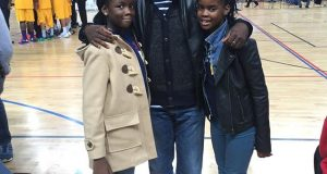 Kunle Afolayan and his kids