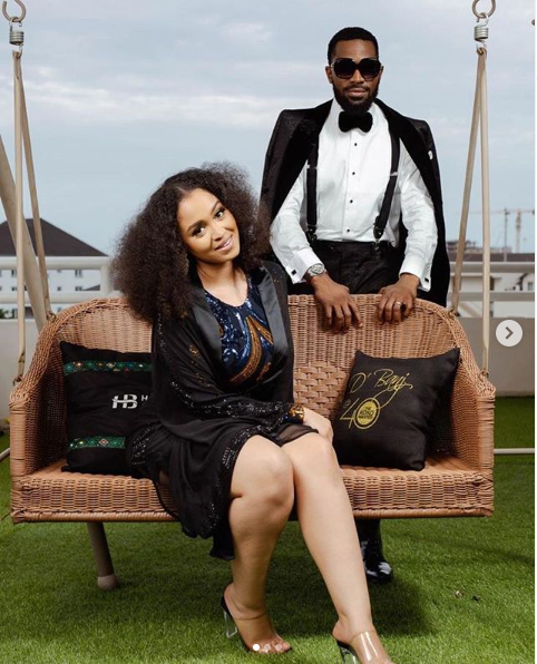 D'banj and his wife, Didi Lineo
