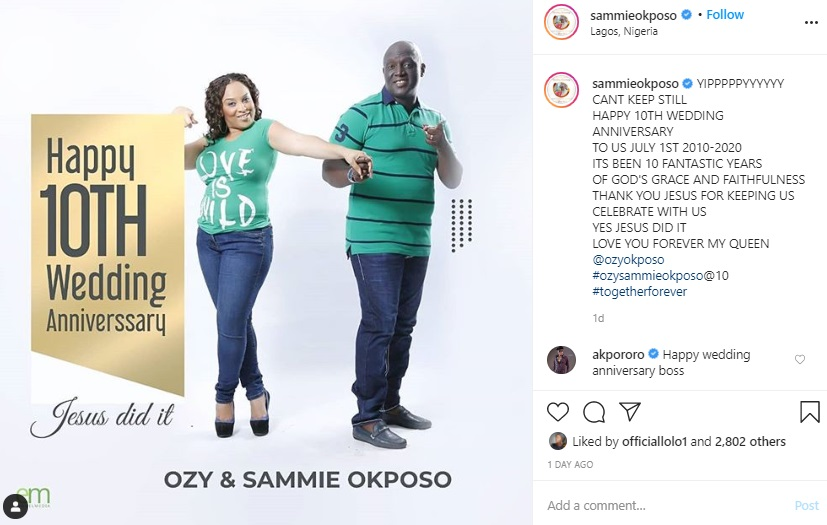 Sammie Okposo and his wife