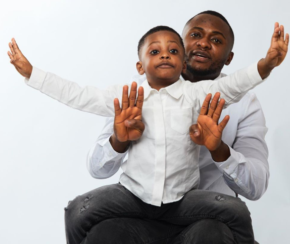Ubi Franklin and his son
