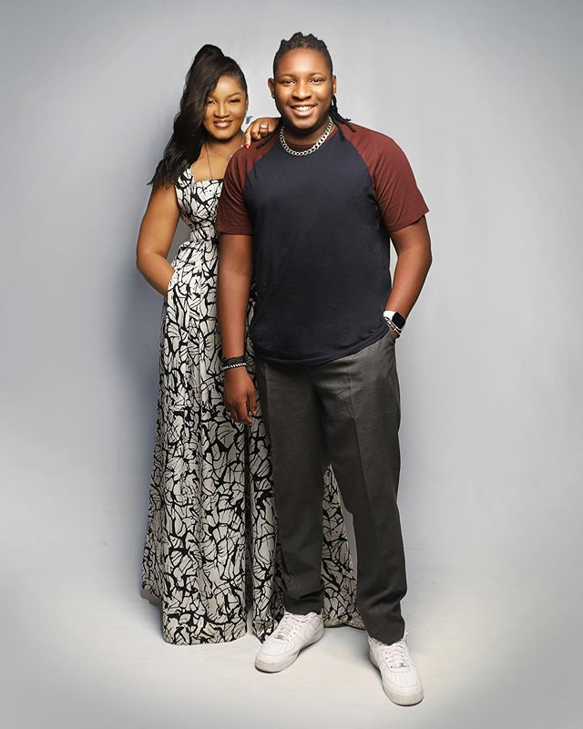 Omotola Jalade Ekeinde and her Son