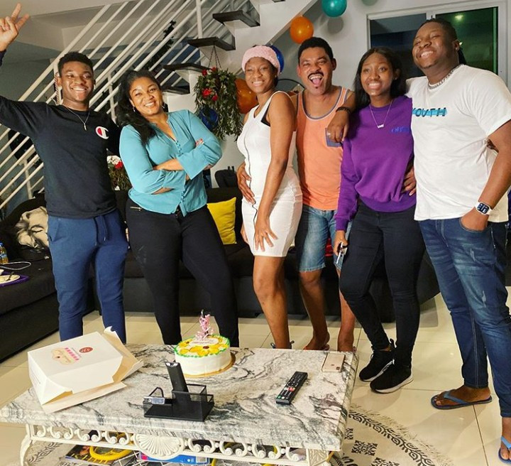 Omotola Jalade and her family