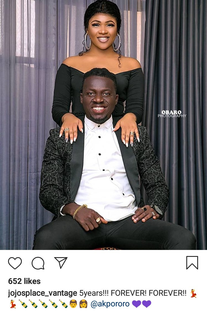 Akpororo and his wife