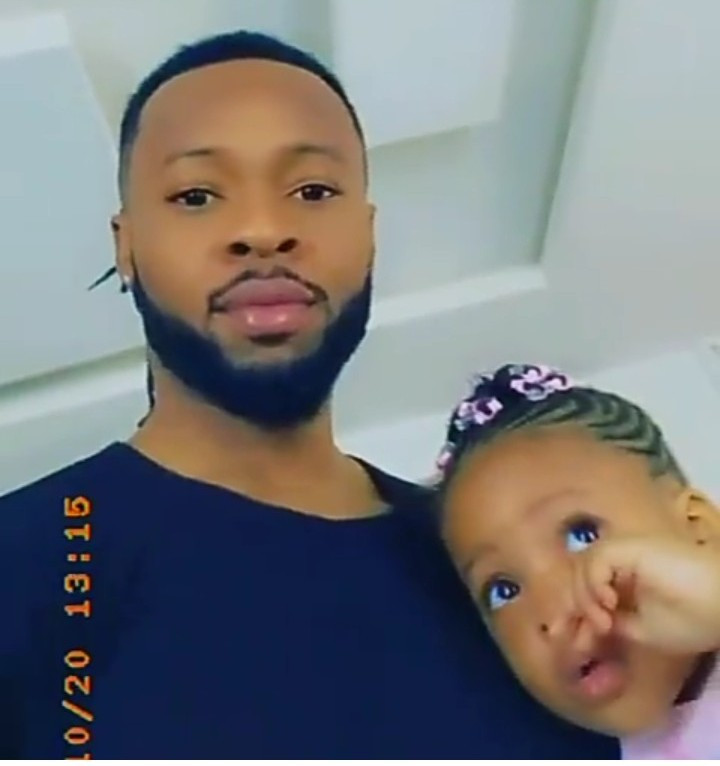 Flavour and his daughter