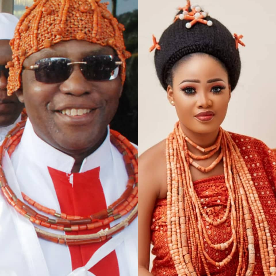 Oba of Benin and his wife