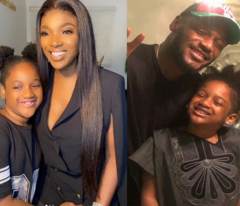 2baba, Annie Idibia and their daughter, Olivia Idibia