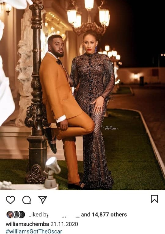 Williams Uchemba and his fiancee