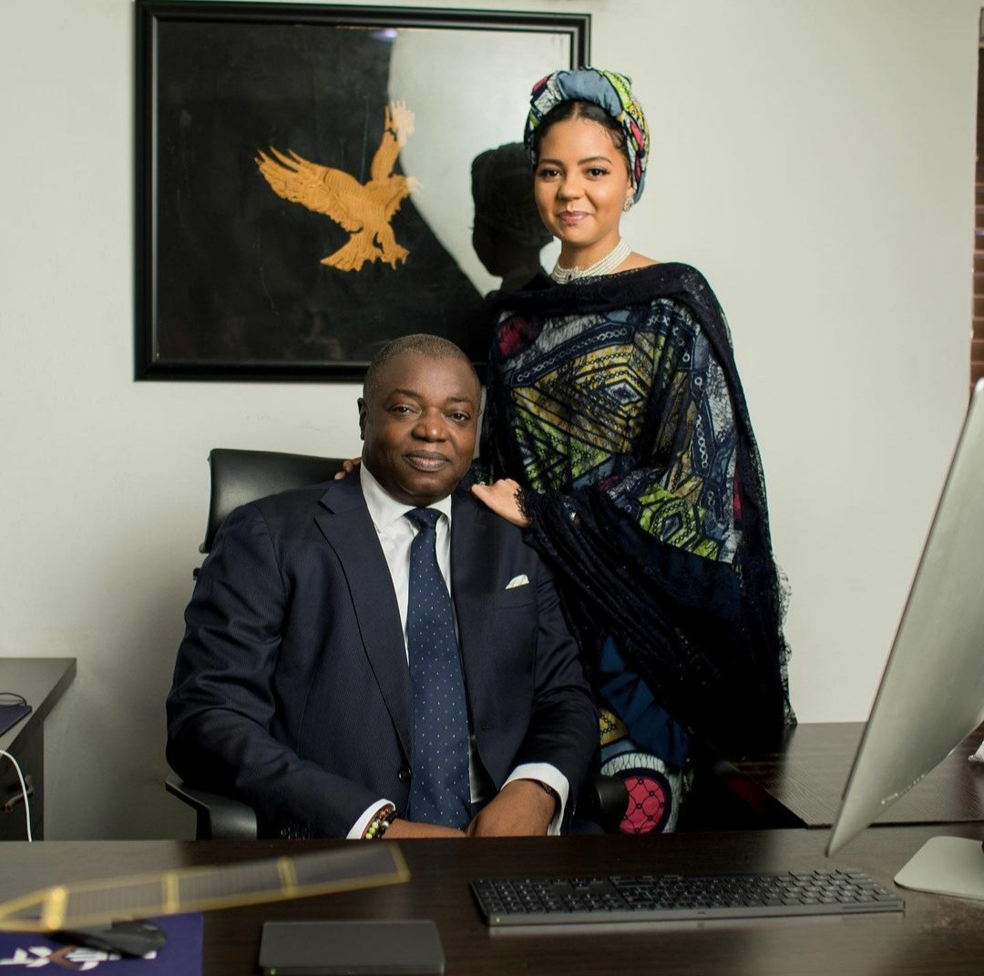 Adama Indimi Ado-Ibrahim and her husband
