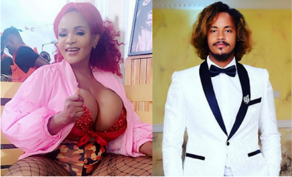 Cossy Orjiakor and her fiancee