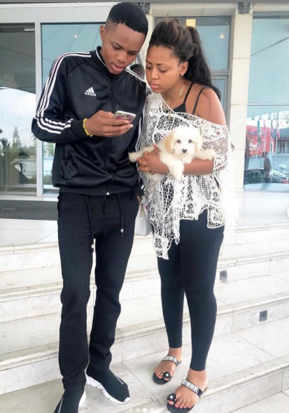 Regina Daniels and her brother