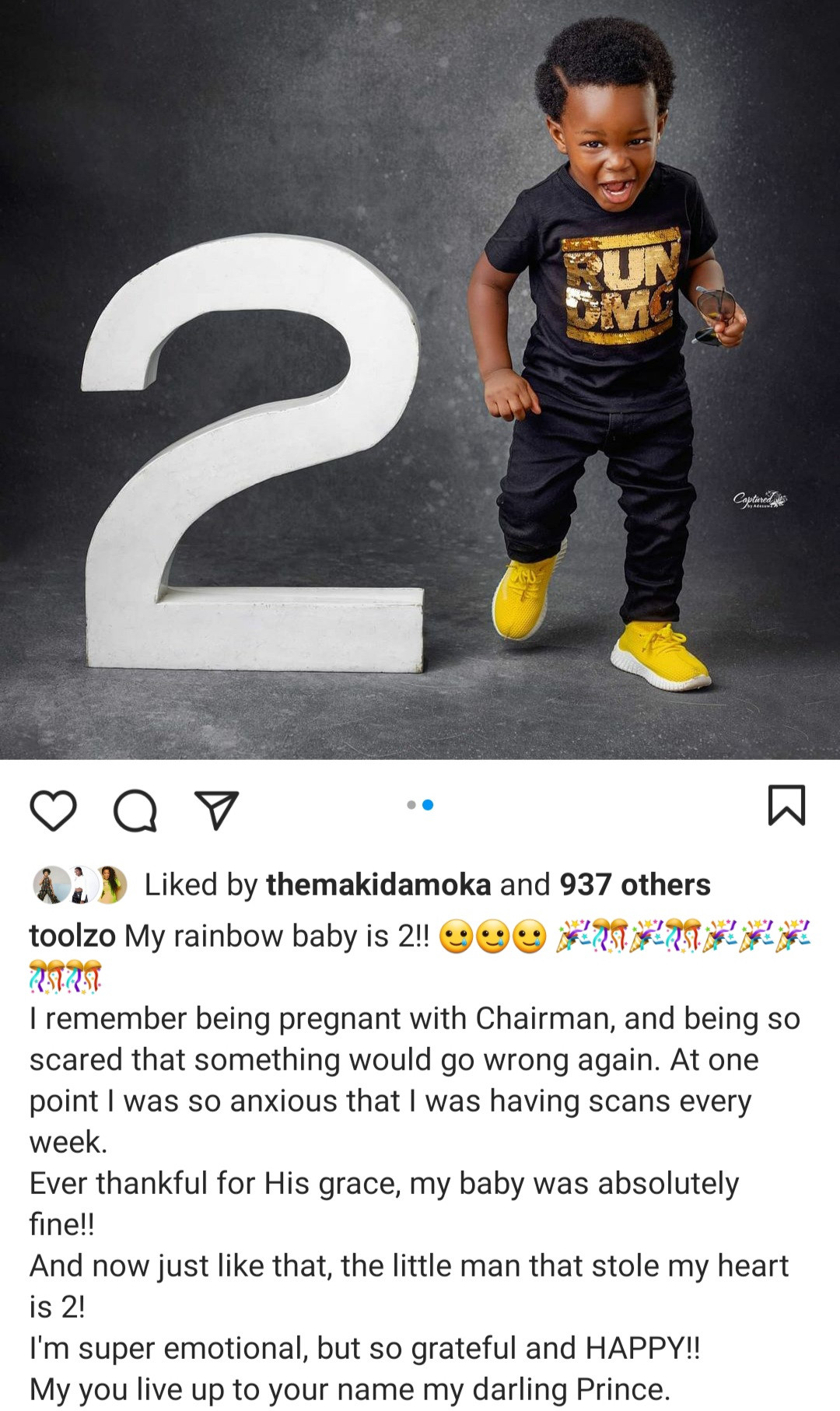 Toolz and her son
