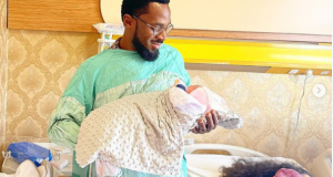 Dbanj and his daughter