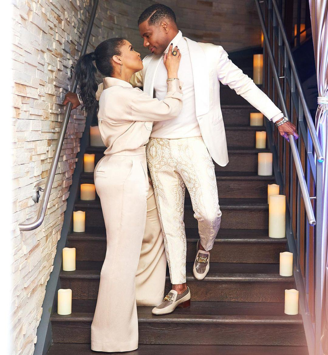 Kirk Franklin and his wife