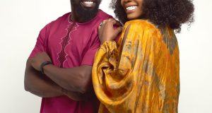Shola Ogudu and her fiance