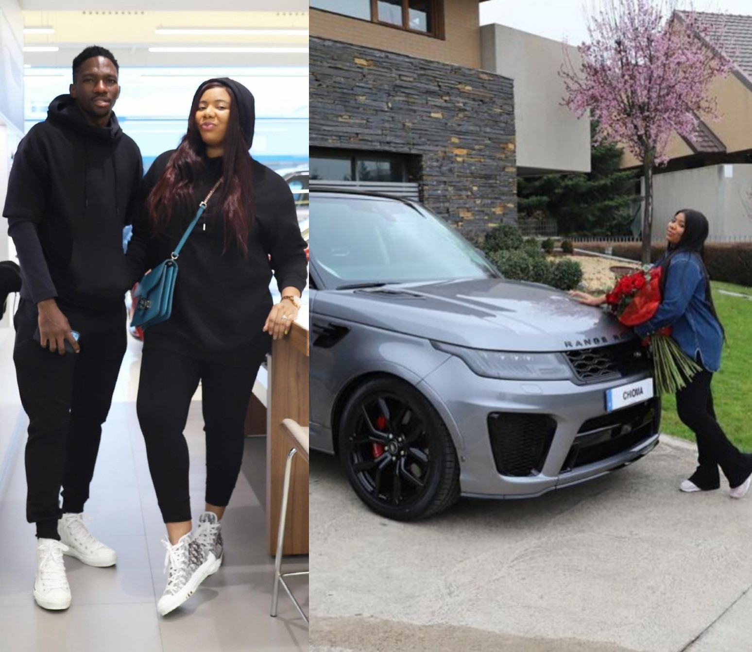 Kenneth Omeruo and his wife