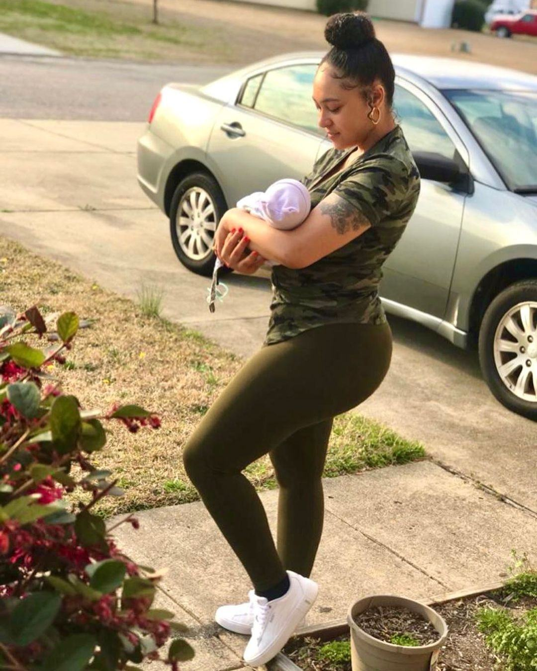 Rosy Meurer and her son