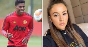 Marcus Rashford and Lucia Loi