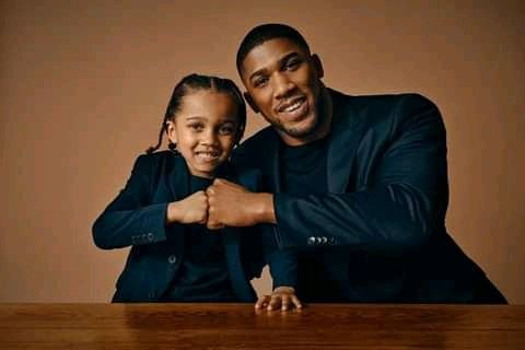 Anthony Joshua and his son